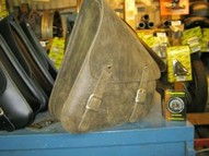 Solo Side Bag for SOFTAIL BROWN