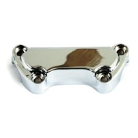 CHROME HANDLEBAR TOP CLAMP, W/O SKIRT  900640