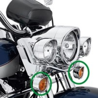 H-D STYLE VISOR STYLE TURNSIGNAL TRIM RINGS  991049