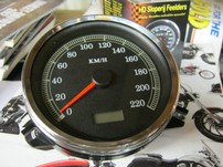 SPEEDOMETER. KMH. 'K' FACE STOCK STYLE, 67197-99A REPLACEMENT  991106