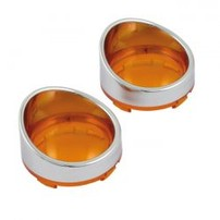 TURN SIGNAL AMBER LENS WITH VISOR   505088